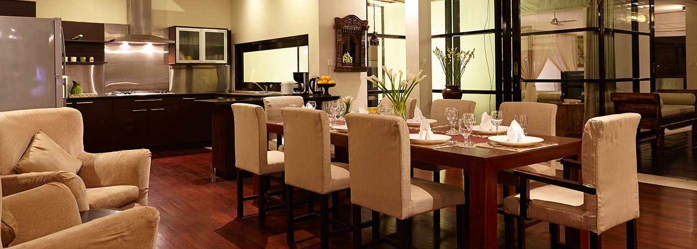 bali villa tarana - dining and kitchen